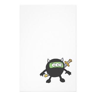 silly little ninja monster stationery