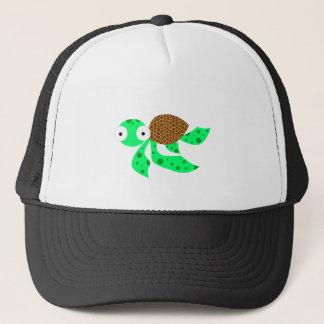 Silly little sea turtle trucker hat