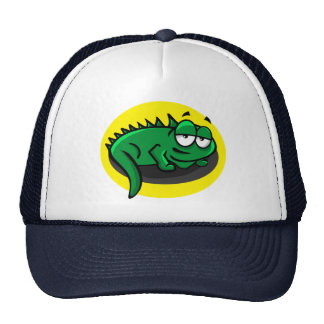 Silly Lizard Cartoon Trucker Hat