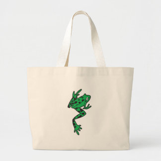silly long legs tree frog jumbo tote bag