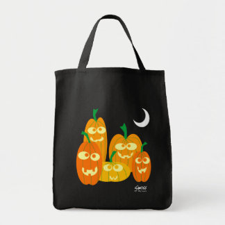 Silly Looking Cartoon Pumpkins Trick or Treat Bag