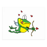 silly love cupid valentine froggy frog post cards