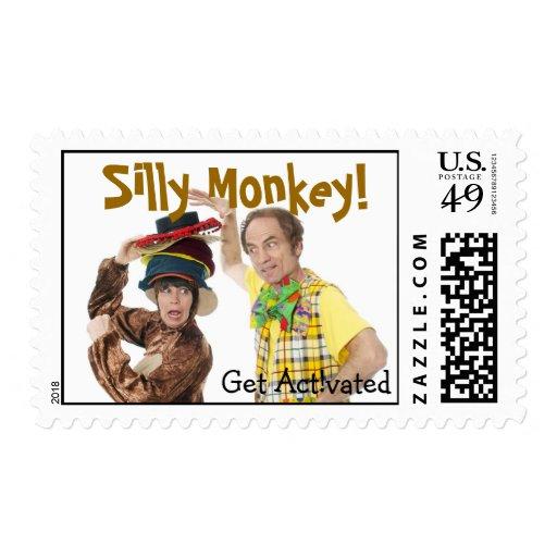 Silly Monkey Postage Stamp