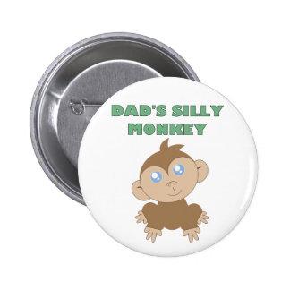 Silly Monkey - Standard, 2¼ Inch Round Button Pinback Button