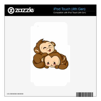 Silly Monkeys! Decals For iPod Touch 4G