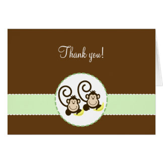 SILLY MONKEYS Folded Thank you notes