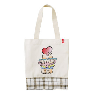 Silly Monster's Very Mushy HEART Tote