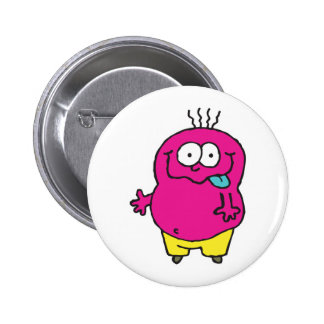silly monster sticking out tongue 2 inch round button
