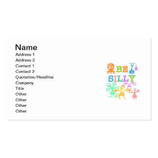 Silly Monsters Double-Sided Standard Business Cards (Pack Of 100)