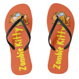 Silly Monster's Zombie Kitty Flip Flops