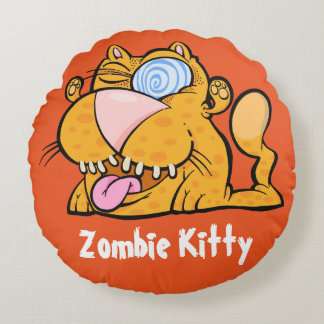 Silly Monster's Zombie Kitty Throw Pillow