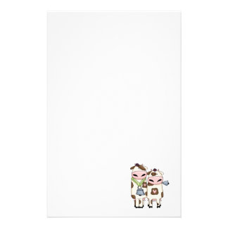 silly moo cow couple cartoon stationery