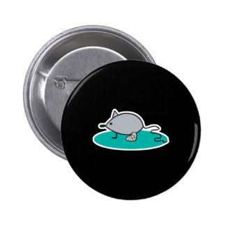 silly mouse with broken leg 2 inch round button