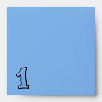 Silly Number 1 blue Invitation Envelope