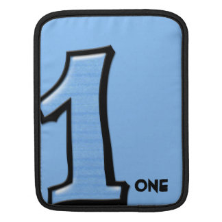 Silly Number 1 blue iPad Sleeve