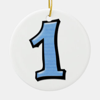 Silly Number 1 blue Ornament