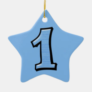 Silly Number 1 blue Star Ornament