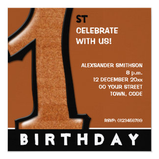 Silly Number 1 chocolate 1st Birthday Invite