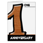 Silly Number 1 chocolate Anniversary Card