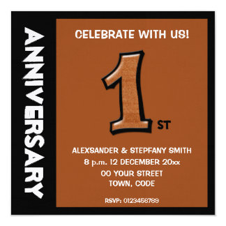 Silly Number 1 chocolate Anniversary Invitation