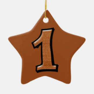 Silly Number 1 chocolate Star Ornament