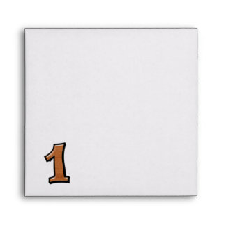 Silly Number 1 chocolate white Invitation Envelope