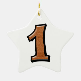 Silly Number 1 chocolate white Star Ornament