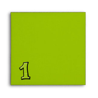 Silly Number 1 green Invitation Envelope