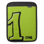 Silly Number 1 green iPad Sleeve