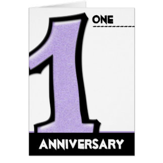 Silly Number 1 lavender Anniversary Card