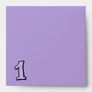Silly Number 1 lavender Invitation Envelope