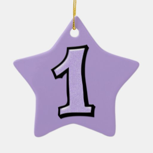 Silly Number 1 lavender Star Ornament