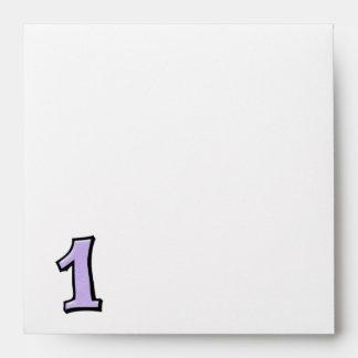 Silly Number 1 lavender white Invitation Envelope