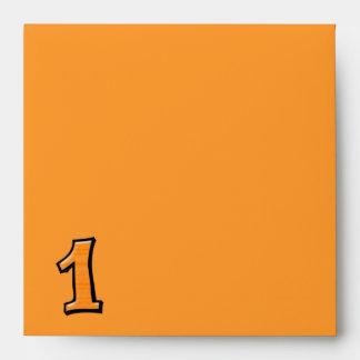 Silly Number 1 orange Invitation Envelope