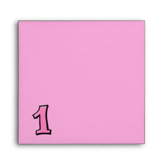 Silly Number 1 pink Invitation Envelope