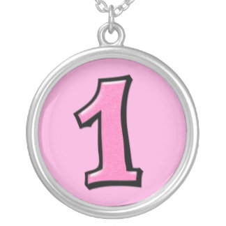 Silly Number 1 pink Necklace