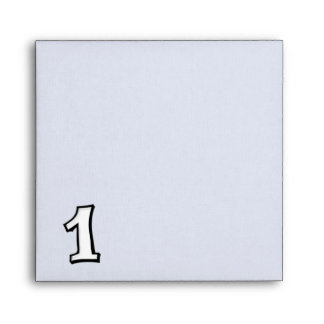 Silly Number 1 white white Invitation Envelope