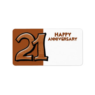 Silly Number 21 chocolate Anniversary Gift Sticker Label