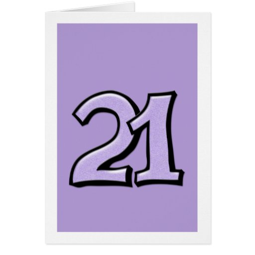 Silly_number_21_lavender_card 137540293328225546 on Create A Number Line