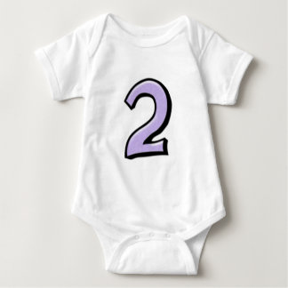 Silly Number 2 lavender Infant T-shirt