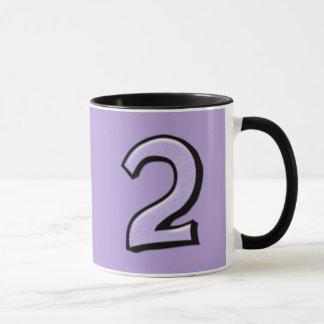 Silly Number 2 lavender Mug
