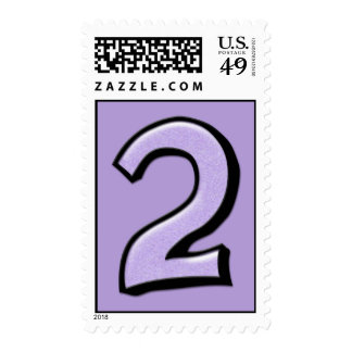 Silly Number 2 lavender Stamp