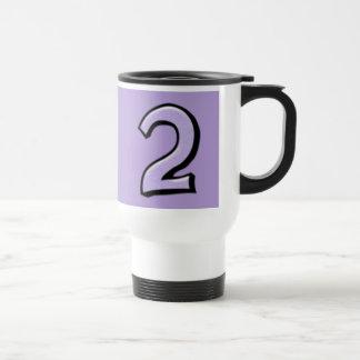 Silly Number 2 lavender Travel Mug