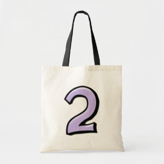 Silly Number 2 lavender white Bag