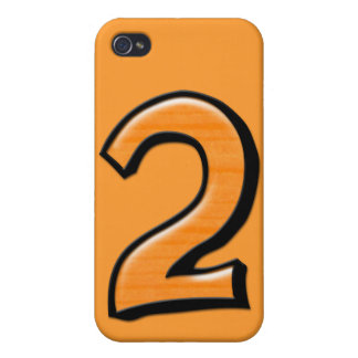 Silly Number 2 orange iPhone 4 Case