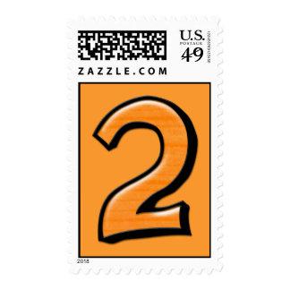Silly Number 2 orange Stamp