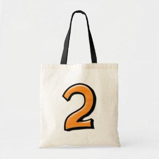 Silly Number 2 orange white Bag