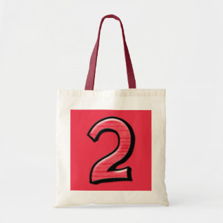 Silly Number 2 red Bag