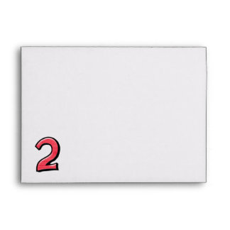 Silly Number 2 red Card Envelopes