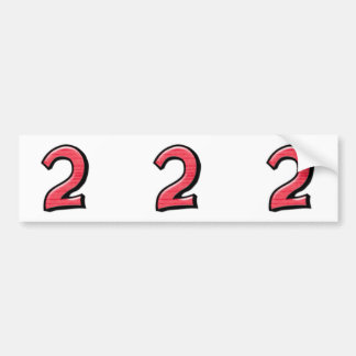 Silly Number 2 red cutout Stickers